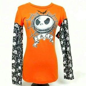 Jack Skellington Long Sleeve Shirt Juniors Large